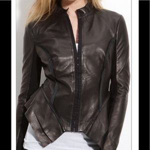 HINGE lambskin jacket